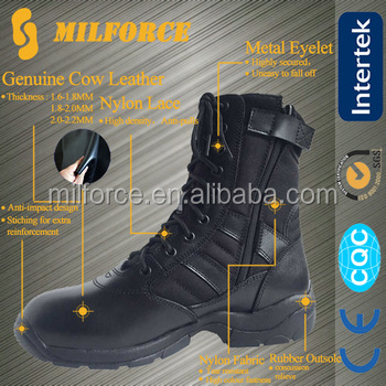 US style fashionable black color kids military boots for men
