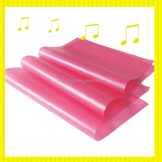 color glassine paper for wrapping chocolate or sweet