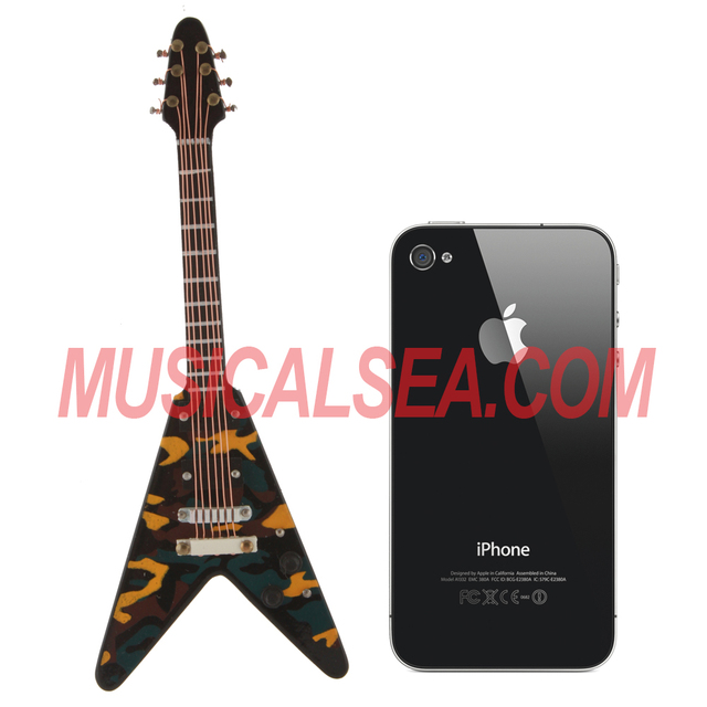 Miniature camouflage shaped guitar decoration musical instrument gift