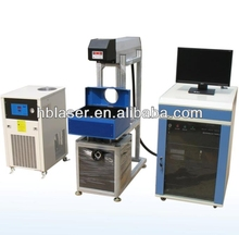 Water cooling Nonmetal HG-60w co2 machine laser printing on glass