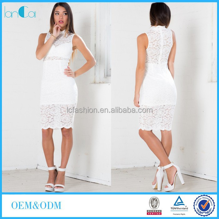 Wholesale Ladies Sexy White Lace Bandage <strong>Dress</strong> 2015