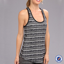 top quality unique design fringe casual tank top