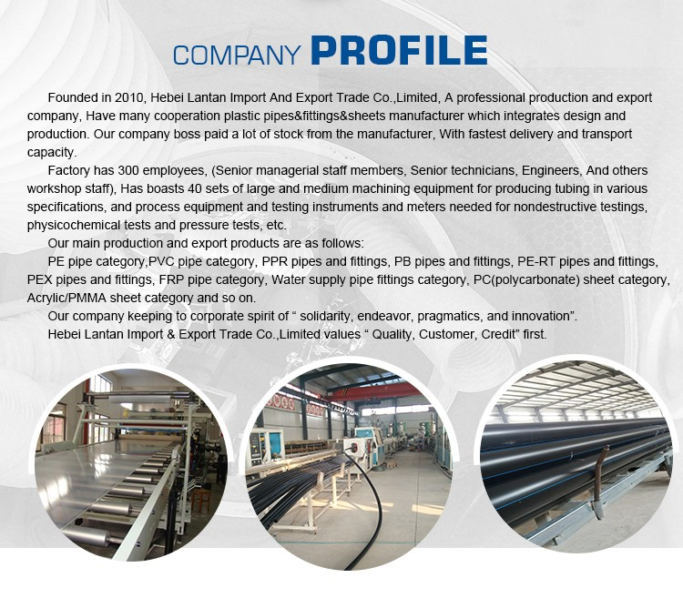 Water supply black plastic hdpe pipe and fittings production line