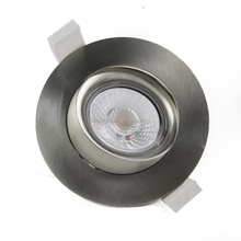 2700k 3000k 4000k white black nickel silver gyro cob led downlight dimmable with 83mm cut hole ip44