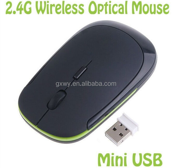 Optical Wireless Mouse 10m 1200 DPI Ultra Thin USB 2.0 Slim Mice 2.4G Receiver for Laptop Desktop