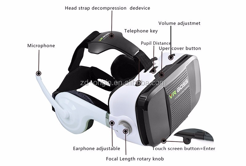 VR BOSS Z5 vr box all in one 3d vr box headset glasses for 3d Movie Game