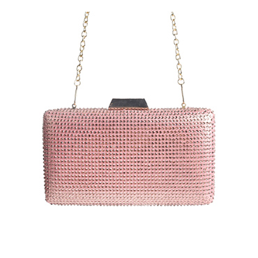 Ladies Party Rhinestone Oval Shape Evening Bag Clutch Purse for Phone Storage