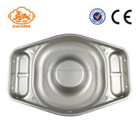 Pig feeding farm equipment stainless raising hog feeder pan