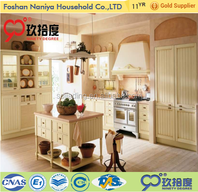China supplier high quality polyurethane kitchen cabinet with wood kitchen cabinet