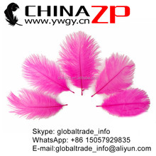 CHINAZP No.1 Supplier in China Factory Pink Exporting Artificial Wholesale from 20-25cm Colored Ostrich Feathers