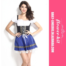 Wholesale Halloween Sexy Blue Serving Beer Maid Wench Dress Costume