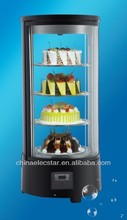 glass cooler Refrigerated Showcase,coutertop display,countertop showcase cooler,chiller,round cake showcase