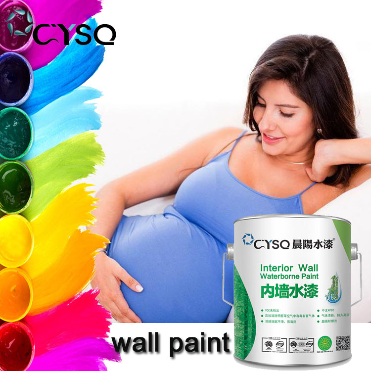 Food safe waterproof water based acrylic emulsion interior wall paint factory