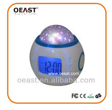 ed color change digital alarm clock lcd screen led projection alarm clock