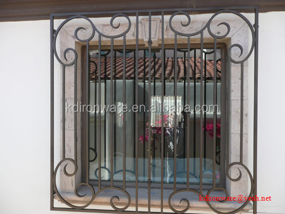 Newest design window protective ornamental wrought iron for Window protector designs