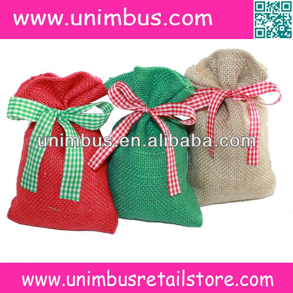 Eco-friendly high density jute gunny,burlap hessian sack pouch bag for packing