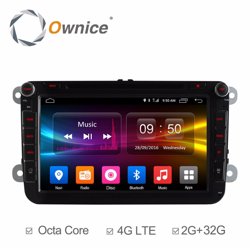 2 din android car dvd for vw volkswagen passat golf Octa Core Android 6.0 support DAB+ TPMS OBDII a/v system gps navigation