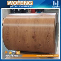 Waterproof wood grain color coated steel composite facade wall panels for buildings