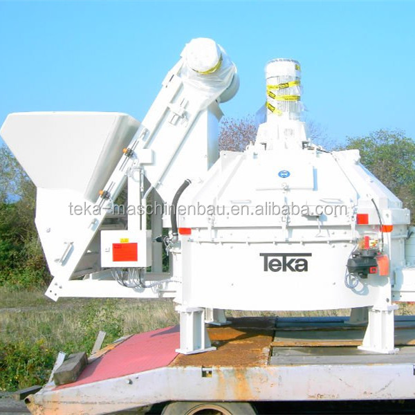 Germany Teka planetary concrete mixer with skip hoist system model TPZ750
