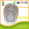 6 Inch slim led ceiling downlight smd 5630 aluminum 18w led recessed round downlight