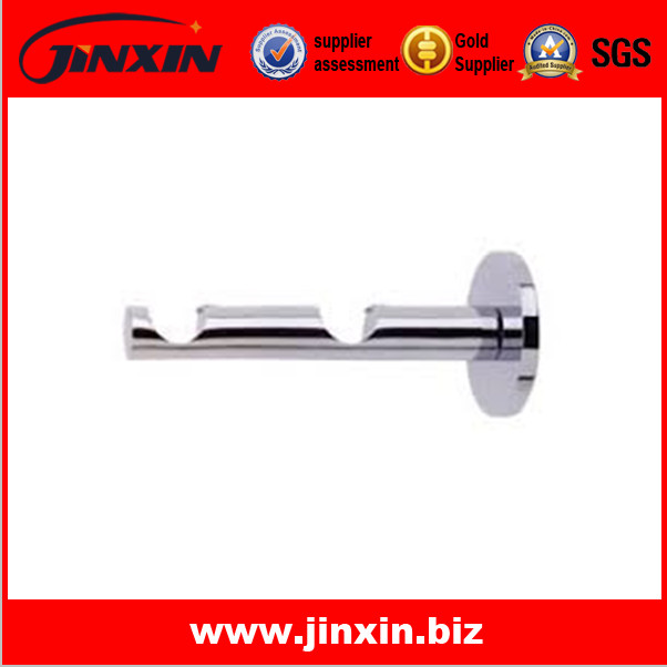 Polished finish double curtain rail bracket
