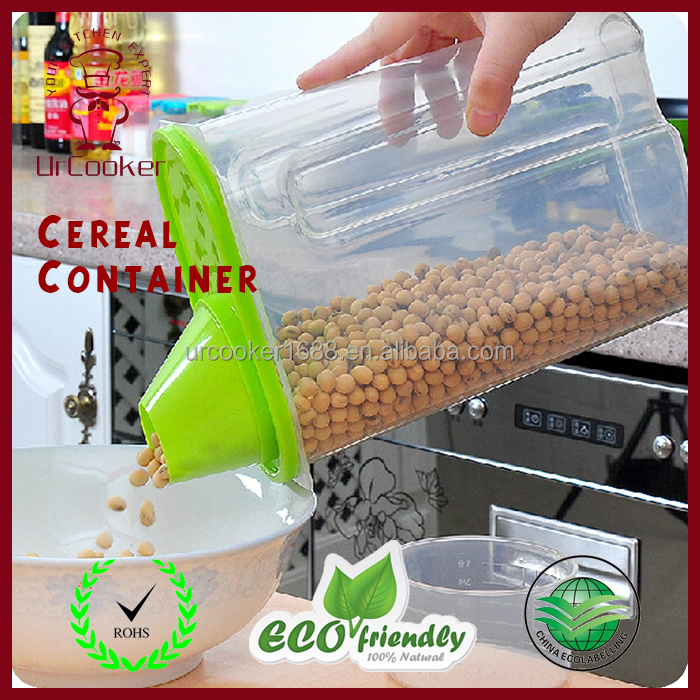 Hot Selling Kitchen Plastic Dry Food Dispenser Box Cereal Food Container