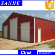 Low cost used storage industry shed design for sale