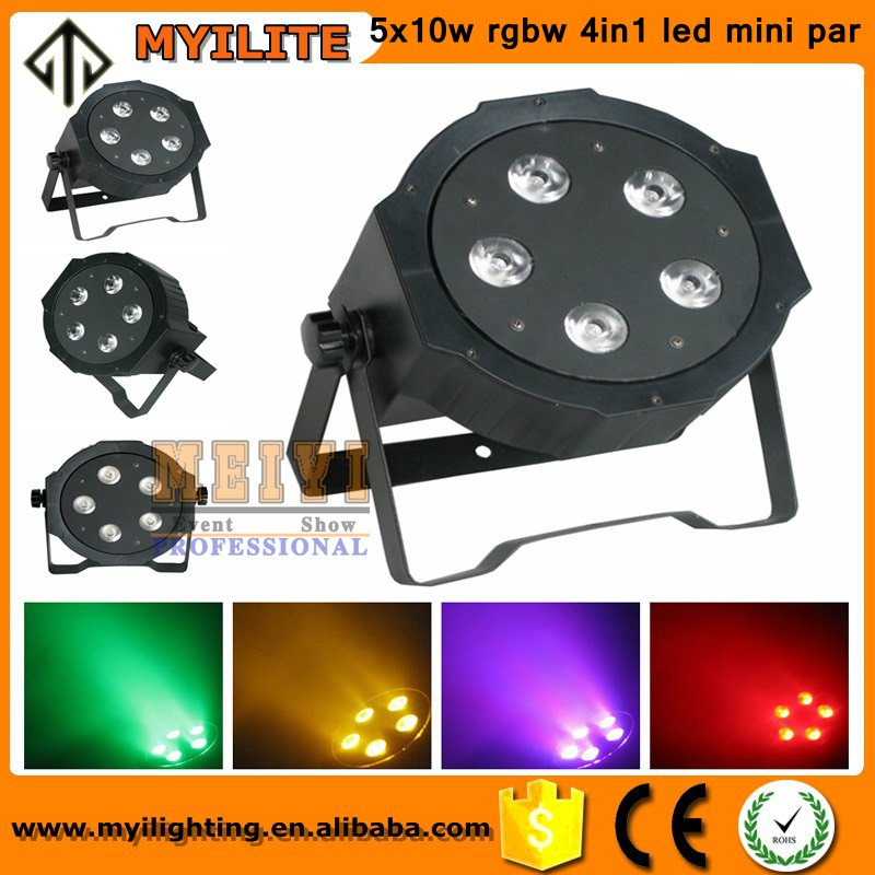 alibaba best sellers stage lights sharpy 5x10w RGBW 4in1 led mini par