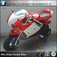 CE 49cc Two Wheel Kids Pocket Bike 49cc Gas Motorcycles