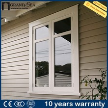 Energy saving heavy duty hurricane proof aluminum american stype casement window for hotel alibaba gold supplier