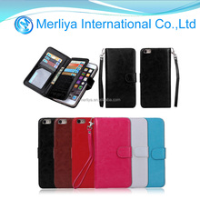 Luxury Magnetic Flip Leather Card Wallet Stand Case Cover For Apple iPhone 6 6s