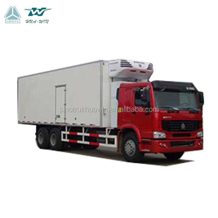 Sinotruk Howo 6x4 25t Thermo king fish meat transport fresh goods cold freezer refrigerated truck with cold room
