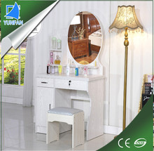 living room furniture mdf iron dressing table design with mirror