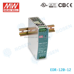 EDR-120-12 AC-DC economical and slim 120W 12V ORIGINAL Meanwell DIN Rail Switch 10a power supply