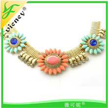 flower shape necklace Ladies Fake Neckline Necklace Collar