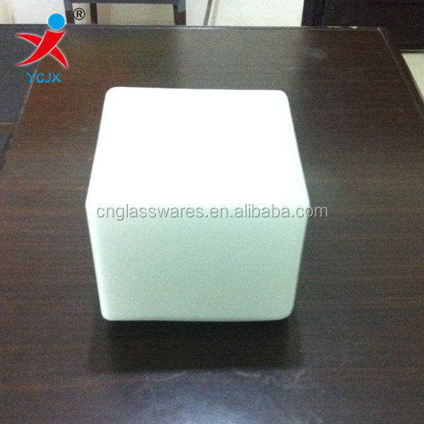 SQUARE SHAPE FROSTED OPAL WHITE GLASS LAMP SHADE