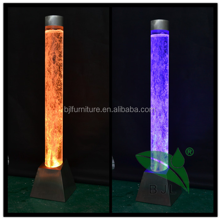 romantic propose acrylic led multiple colors tube decorations