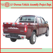 diesel fuel front engine four wheel drive type jinbei sy1028 pickup truck (skd kits assembly easy to operate)