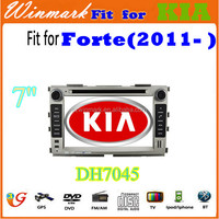 "DH7045 Wholesale 7"" 2 din car dvd player for Kia FORTE with 3G internet,Bluetooth IPOD Wifi TV GPS etc"