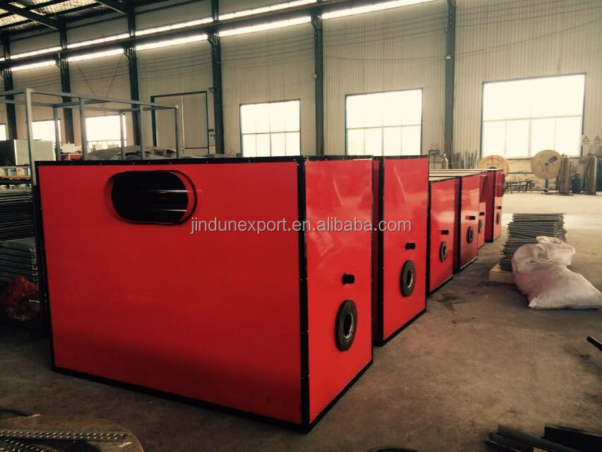 Waste oil air heater for greenhouse