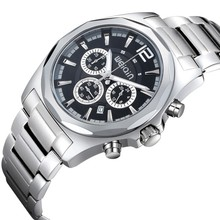WEIQIN W2237 outdoor style sapphire crystal tungsten bezel watch with chronograph
