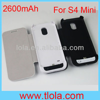 Portable New Flip Battery Case Cover for Samsung Galaxy S4 Mini i9190