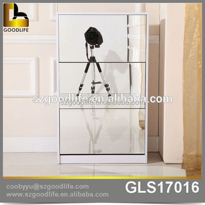 Alibaba china supplier 3 door shoe cabinet with mirror