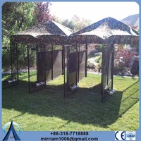 Heavy duty or galvanized comfortable metal dogs houses
