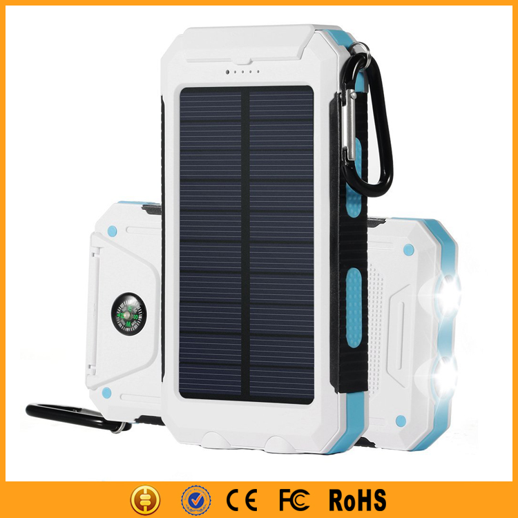 Fast Charge 10000mAh Solar Energy Power Bank for Smartphones