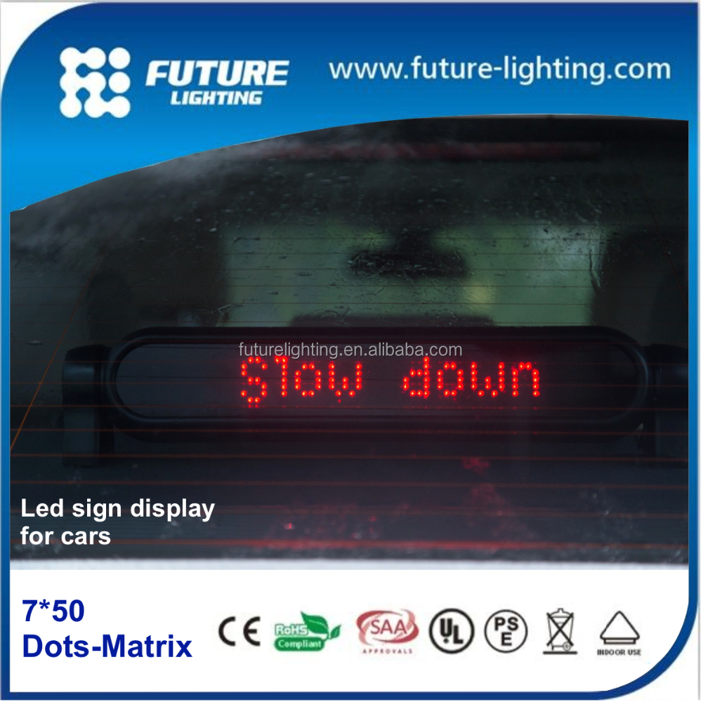 7*50dots led car display rear window scrolling led car sign display