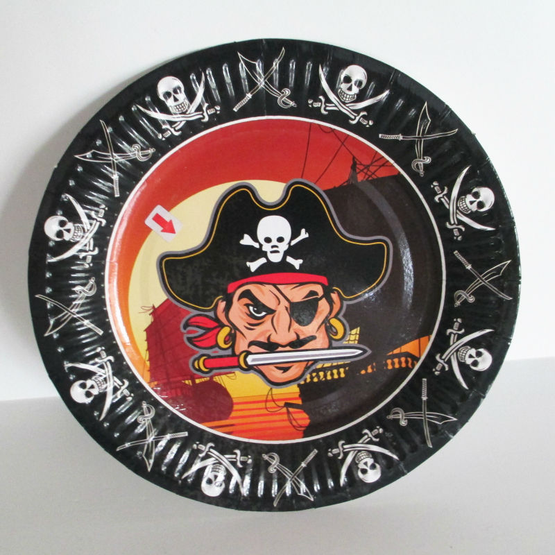 "Hangzhou Custom Printed 7"" Disposable Bulk Paper Plate"