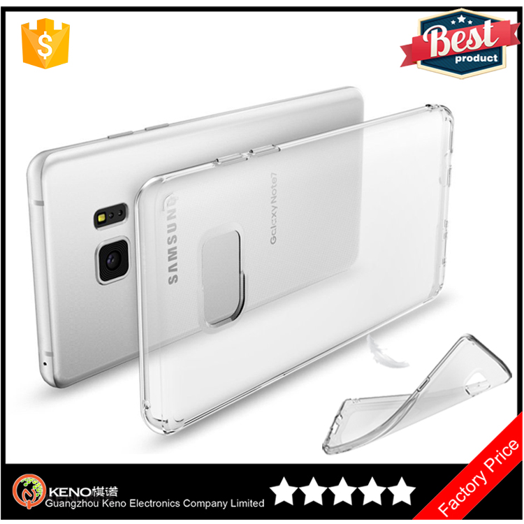 2016 hot Super thin soft TPU crystal mobile phone case smartphone accessories for samsung galaxy note 7 cases
