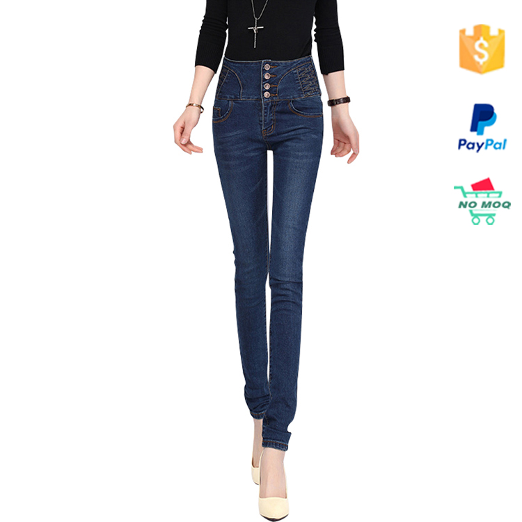 New Design Deep Blue Womens Slimming Denim Jeans Pants Bulk