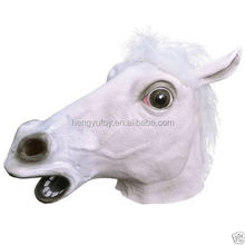 Realistic Rubber Horse Mask Latex Animal Costume Prop Toys Party Halloween